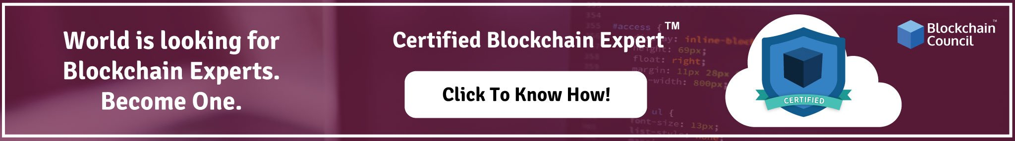 World is looking for a Certified Blockchain Expert Become one